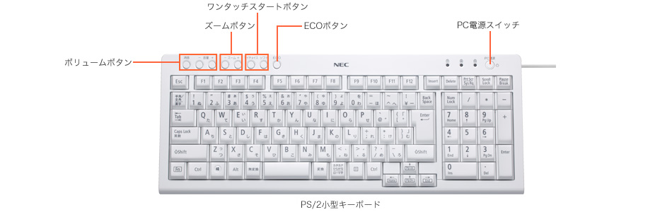 PS/2小型キーボード